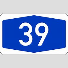Filebundesautobahn 39 Numbersvg  Wikimedia Commons