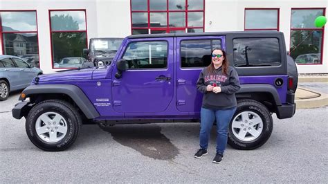 purple jeep no doors congratulations jessica on your xtreme purple jeep youtube