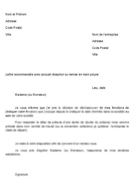 modele lettre de demission remise en propre lettre de d 233 mission remise en propre suisse mod 232 le