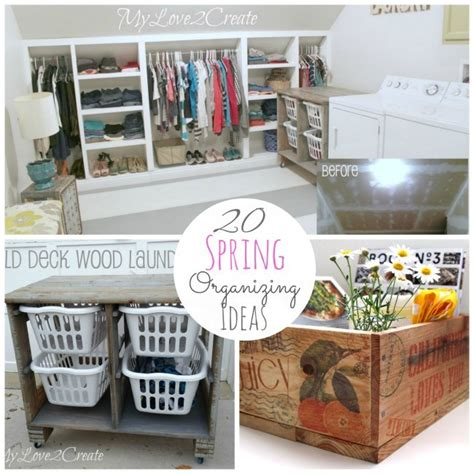 great ideas  spring organizing projects