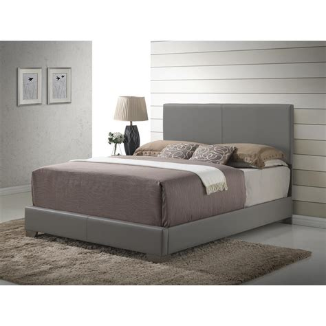 tufted headboard faux leather upholstered panel bed with headboard and