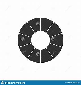 Infographic Wheel With Black Sections  Business Chart