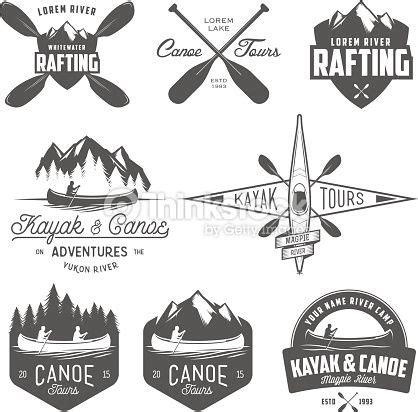 set of kayak and canoe emblems badges and design elements plottern logo ideen kanu und design