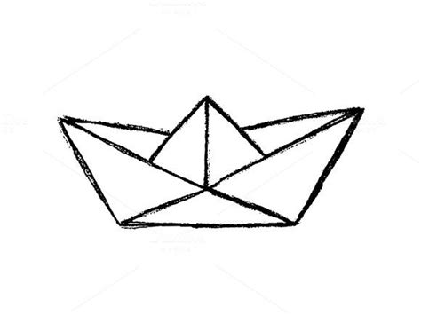 How To Draw A Boat Paper by Paper Boat Sketch On Graphicsmag Best Graphics Designs