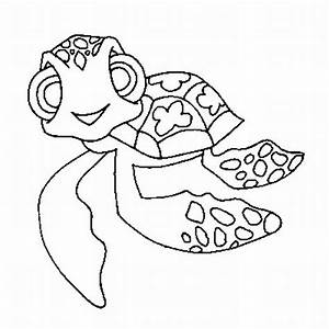 Free coloring pages of cute animated turtles