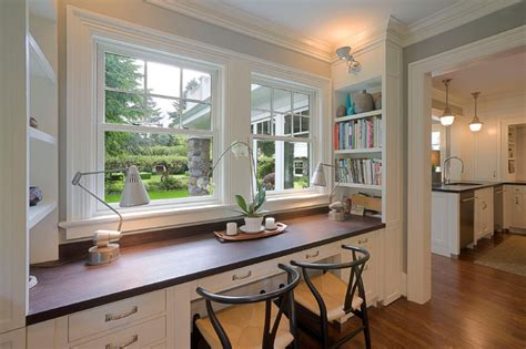 built ins traditional home office portland