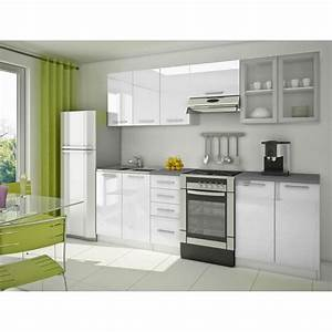 cuisine equipee moderne blanche 39nerou39 achat vente With photo de cuisine equipee