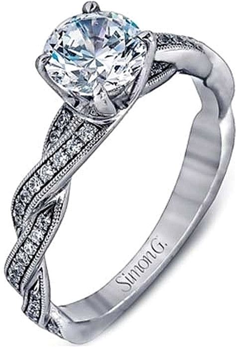 simon g pave diamond twist engagement ring sg mr1498