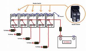 Marine Rocker Switches With Light Wiring Diagram