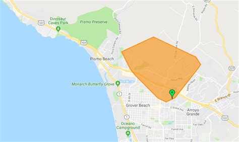 update pge works  restore power  slo county