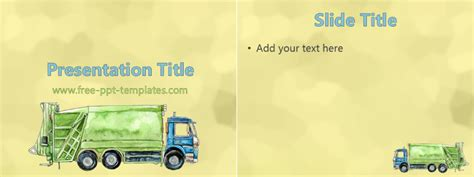 waste management  template  powerpoint templates