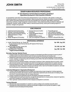 best solutions of sample human resources resumes in form With human resources resume