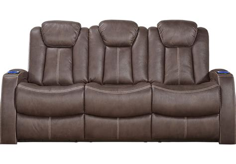 chocolate brown reclining sofa crestline chocolate power plus reclining sofa reclining