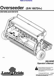 Land Pride Os1548 Users Manual Overseeder  S  N 1667234