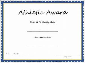 Sport Certificate Templates Sports Athletic Award Certificate Template Professional And High Quality Templates