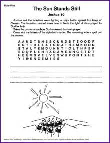 The Sun Stands Still Joshua Coloring Pages for Kids