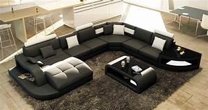 Grand Canapé D Angle : deco in paris canape d angle design panoramique gris et blanc istanbul angle gauche pano gris ~ Teatrodelosmanantiales.com Idées de Décoration