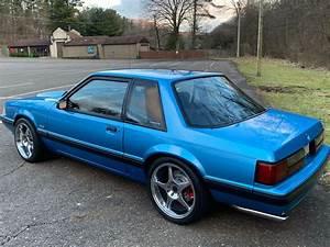 1991 Ford Mustang LX Notchback Coupe Bimini Blue for sale - Ford Mustang Coupe Notchback 1991 ...