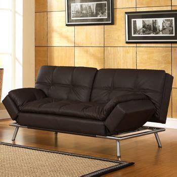 euro lounger sofa bed costco belize java bonded leather euro lounger a la maison