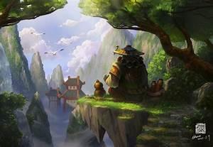 Art World Of Warcraft Mists Of Pandaria Panda Asia Birds