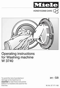 Miele W 3740 Operating Instructions Manual Pdf Download