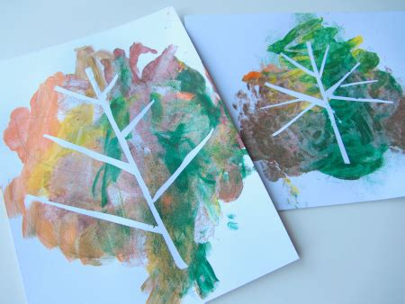 fall craft ideas for preschool activities amp book lists 842 | tape relief painting with leaves