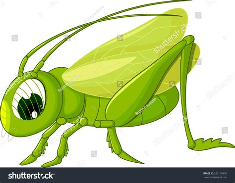Cute Grasshopper Cartoon Stock Vector 322110395