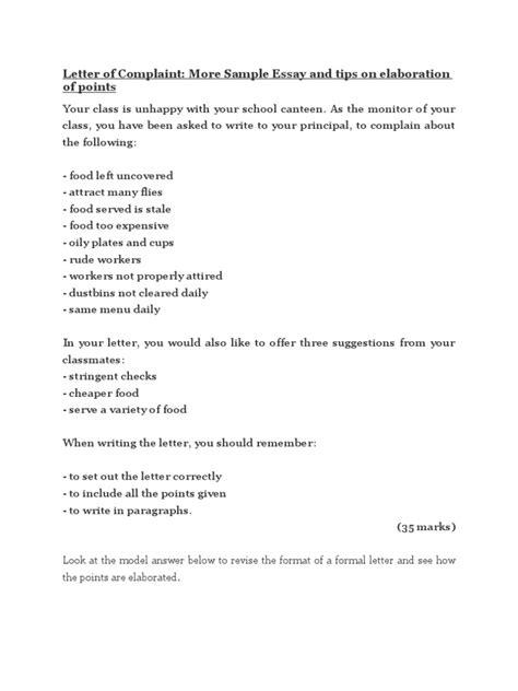 Letter of Complaint | Essays | Sentence (Linguistics)