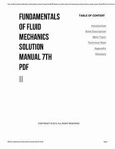 Fundamentals Of Fluid Mechanics 7th Edition Solution