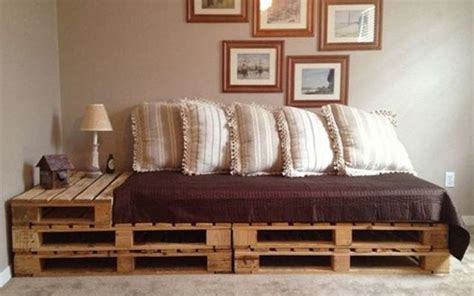 canapé lit bois palettes en bois idées de bricolage de meubles