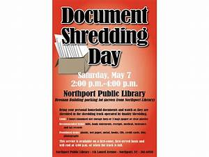 At the library document shredding day patch for Personal document shredding atlanta