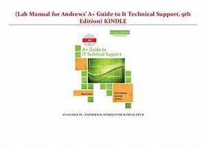 Lab Manual For Andrews U0026 39  A  Guide To It Technical Support