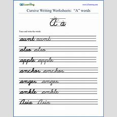 Free Cursive Words Worksheets  Printable  K5 Learning