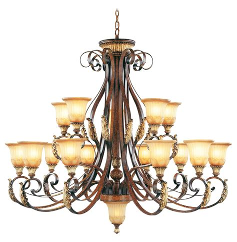 bronze chandelier with accents livex lighting verona bronze with aged gold leaf accents