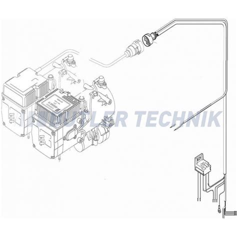 eberspacher hydronic 10 d9w electric cable harness 251816800700