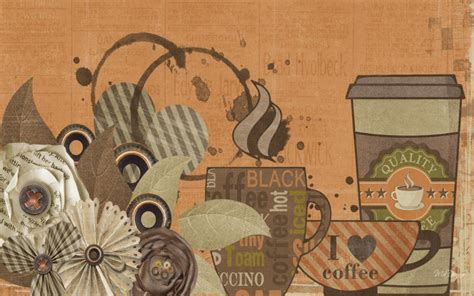 hd coffee time wallpaper