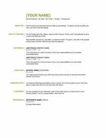 basic resume templates 2013 microsoft office 365 sle resume templates basic resume green and black word