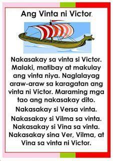 teacher fun files tagalog reading passages  reading