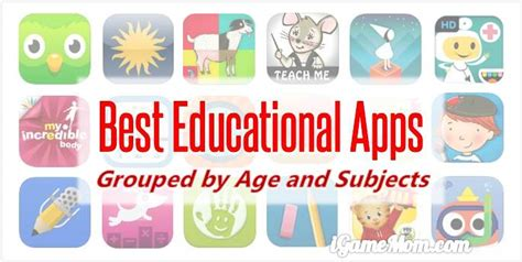 best educational apps for igamemom 590 | Best Educational Apps for Kids by Age Study Subject iGameMom