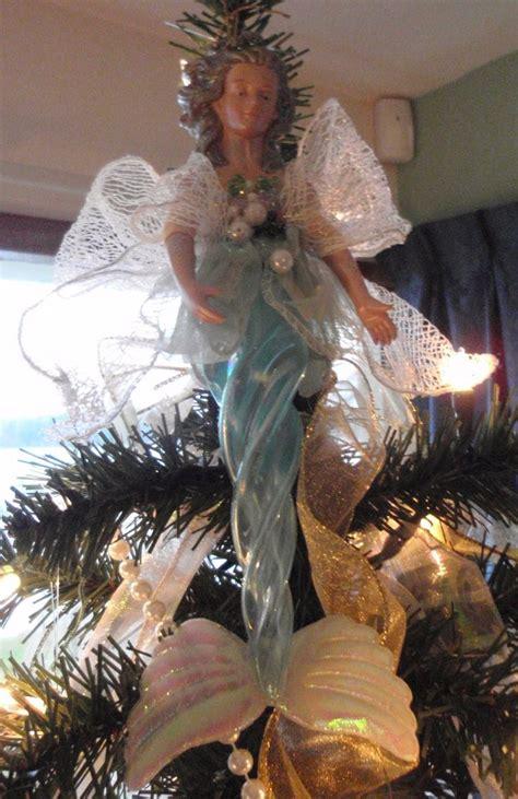 coastal christmas mermaid tree topper christmas mele