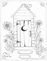 Outhouse Coloring Pages Bathroom Drawing Colouring Cross Country Scene Christmas Sheets Horse Scenes Stencil Adult Watercolour Getdrawings Freesawpatterns Buggy sketch template