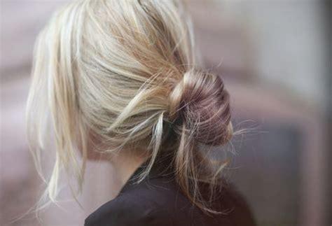 love this blonde color loose bun hairstyles hair