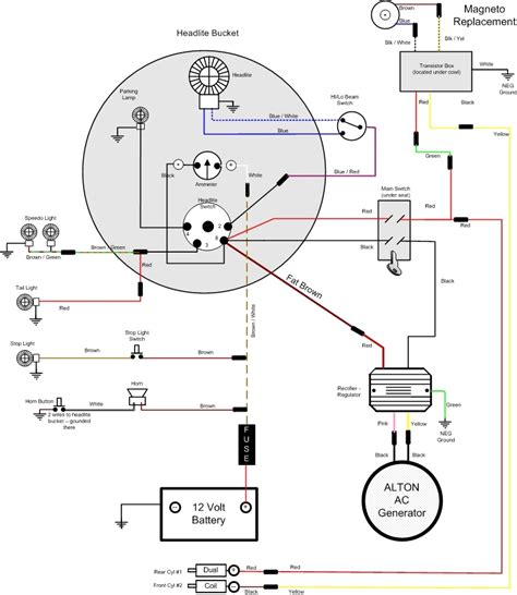 engine wiring vincent wiring diagram lucas ignition