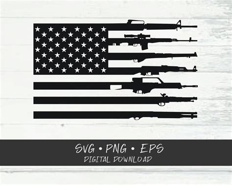 • once you pay you will receive an email with a link to your downloads. Gun Flag SVG Cricut Cut files SVG Shirt SVG | Etsy
