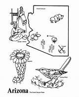 Arizona State Outline Coloring Printables Shape Desert Flower Map Az Usa Printable Teaching Template Demographic Cactus States Drawings Gloss Studies sketch template