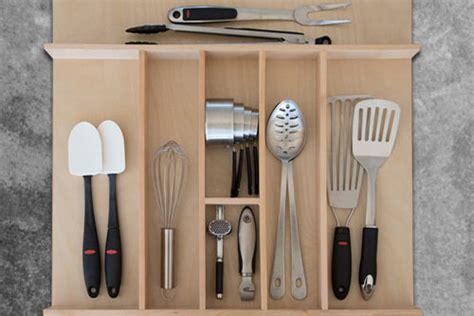 Custom Wood Kitchen Utensil Drawer Organizer Wbar