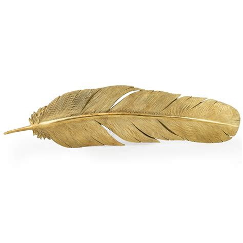 large gold feather home accessories