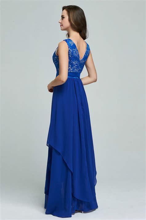Kettymore Women Chiffon Long Skirt Party Dress Blue - Kettymore