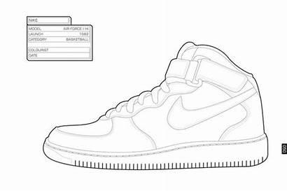 Coloring Pages Jordan Michael Nike Air Shoes