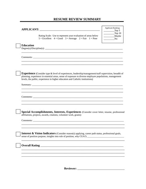 Resume Review by Free 14 Resume Evaluation Form Sles In Pdf Word
